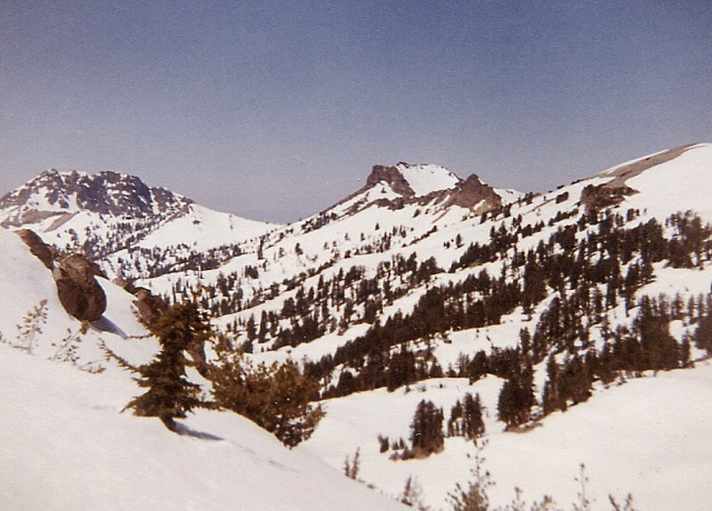Right to left: Ski Heil Pk., Pilot's Pinnacle, Mt. Diller and Brokeoff Mtn, to the SW