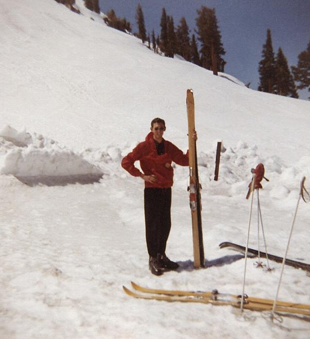 Skiing, me