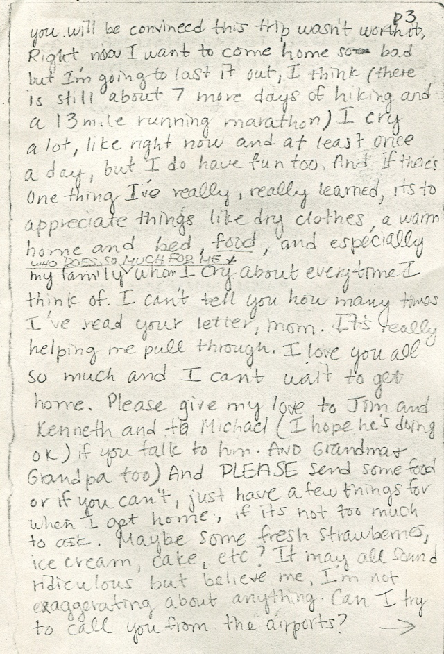 Letter home from one of my students, pg. 5