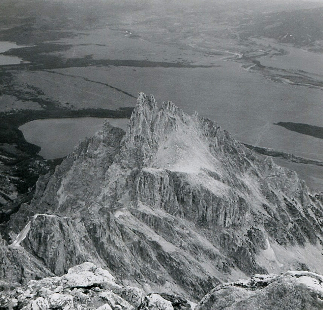 Teewinot, from the summit of the Grand Teton