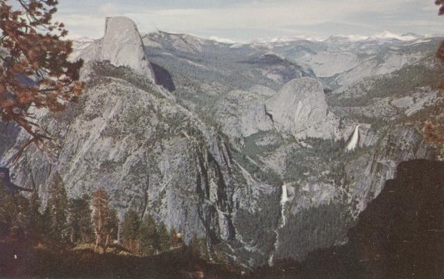 Postcard, Yosemite Valley