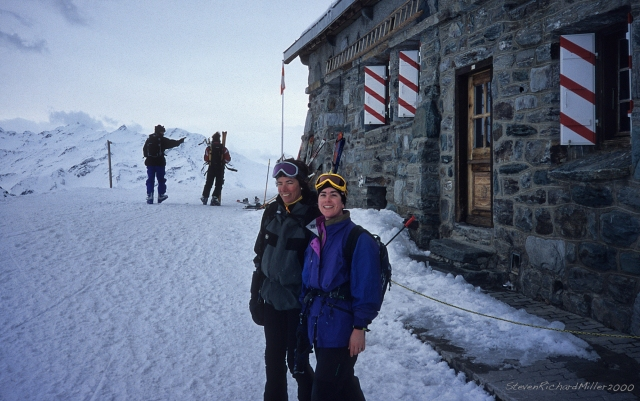 We worked our way back to the Col de Gentiane, and then descended into La Chaux, to the Cabane de Mont Fort, for lunch.
