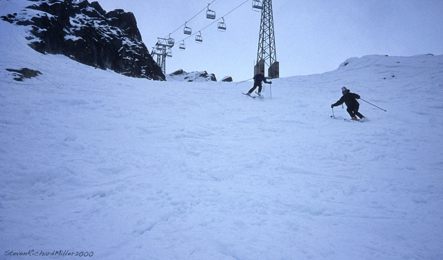 Lac de Vaux lift #2. A steep chute.