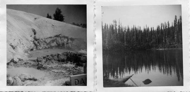 Bumpas Hell. Violently-boiling lake (left). Echo Lake