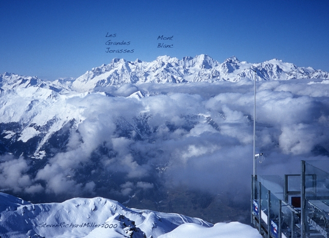 View from L'Olympique of Mt. Blanc