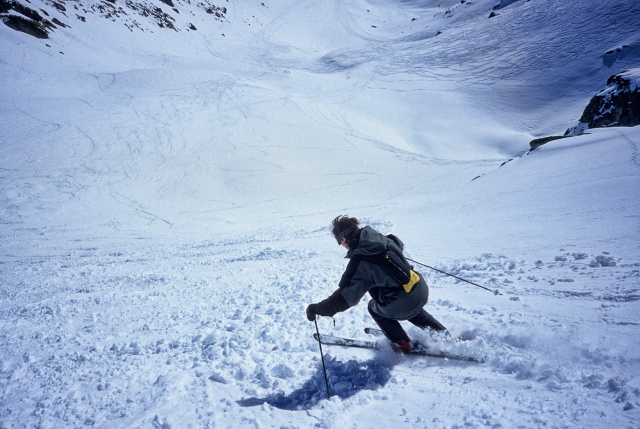 Skiing the Tortin side of Mt Gele