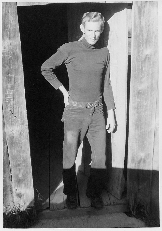 Me, at Mark Twain's cabin. This and the prior photo probably taken by David Hiser