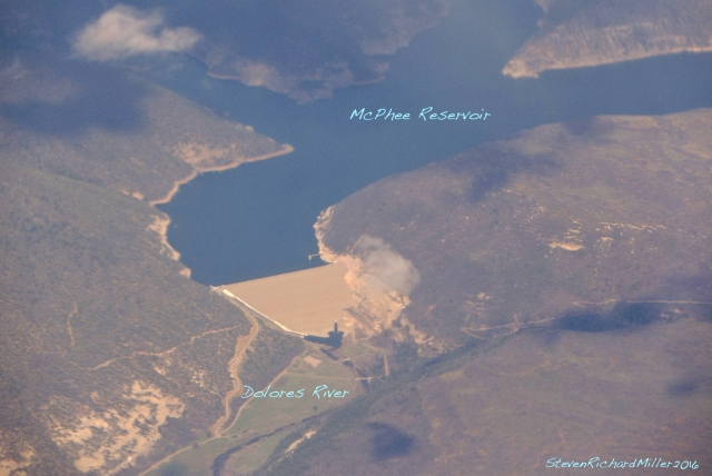 Mc Phee dam and reservoir, on the Dolores River