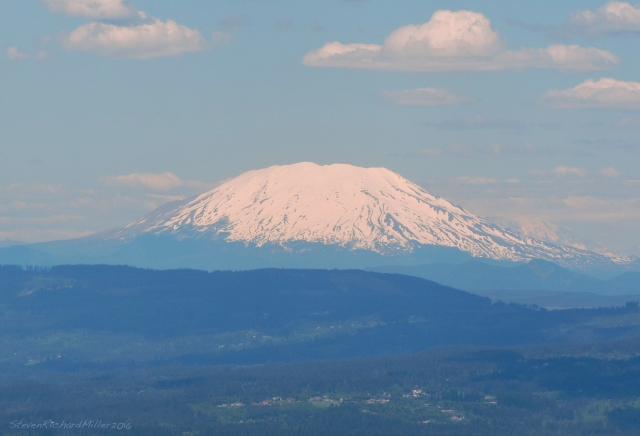 Mt. St. Helens (8,366'), from the south. This is the mountain that erupted in 2008, and lost much of its upper elevation area.