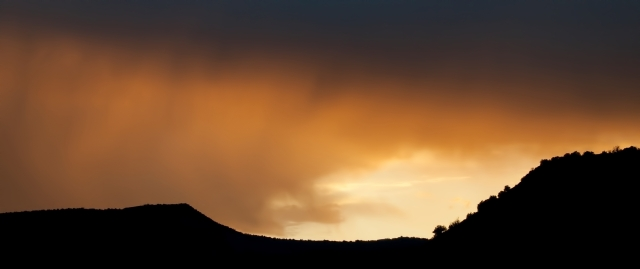 Sunset on Black Mesa, 7:11 PM, May 31, 2016