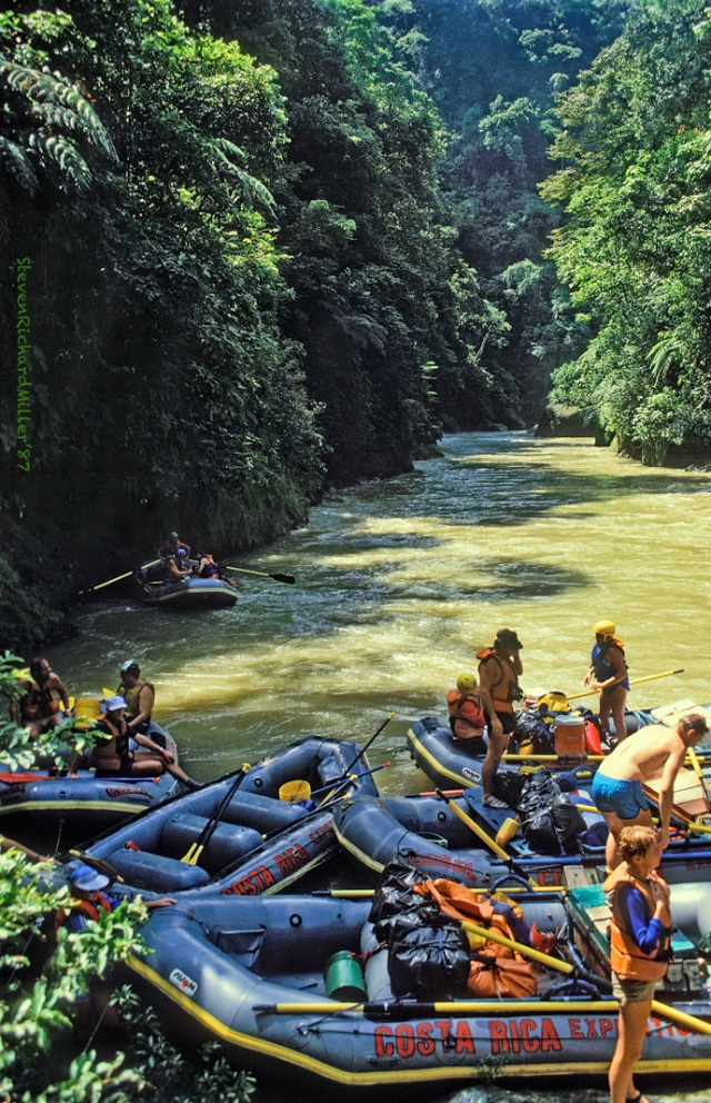 Above Lower Huacas Rapid, 1987