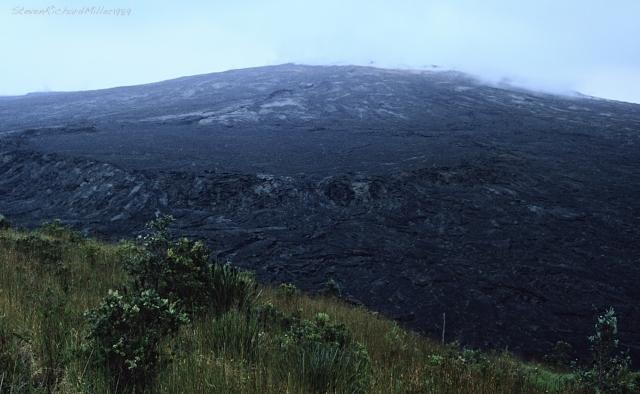 View of Mauna Ulu from Pu'u Huluhulu
