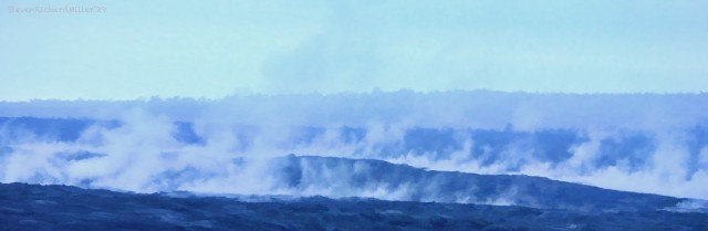 Steam vents in the main caldera