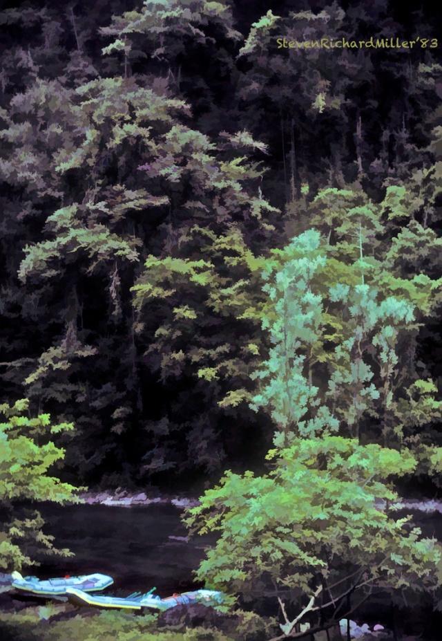 Pacaure, at the campsite, 1983