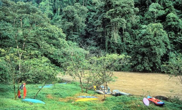 Rio Pacuare, Campspot, 1990