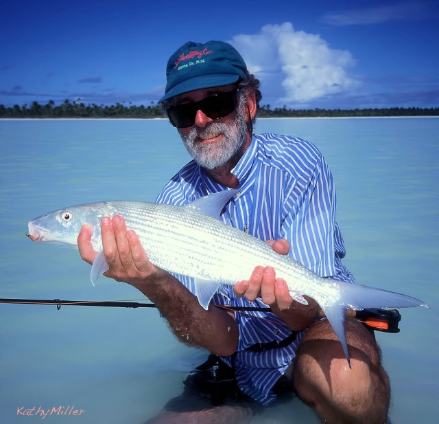 And I caught fish, too. This is probably my biggest bonefish ever!