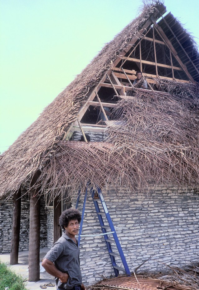 Thatching a new cottage