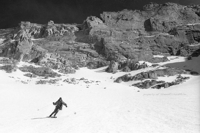 Me, skiing on the slopes of Whitney Portal
