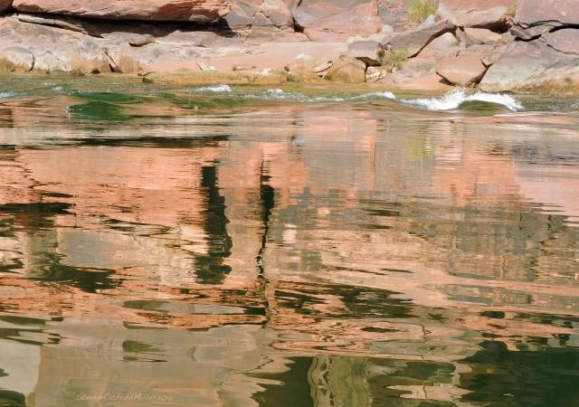 Reflections, the Esplanade Sandstone, Mile 13
