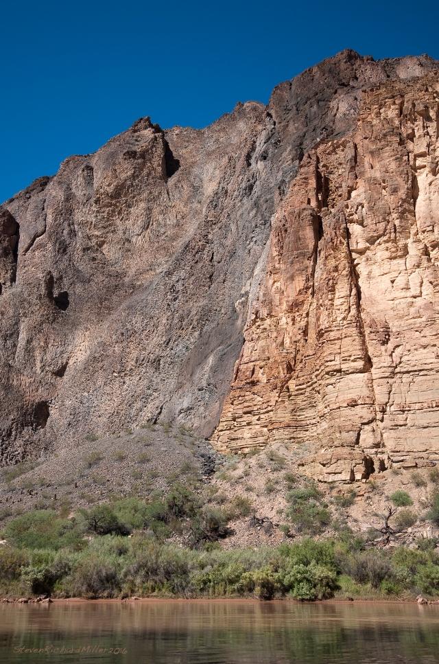 Lava meets limestone, Mile 183