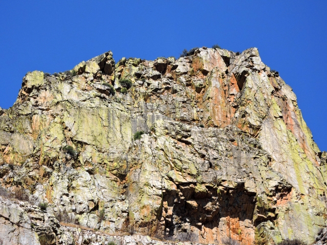 Rock face in the gorge