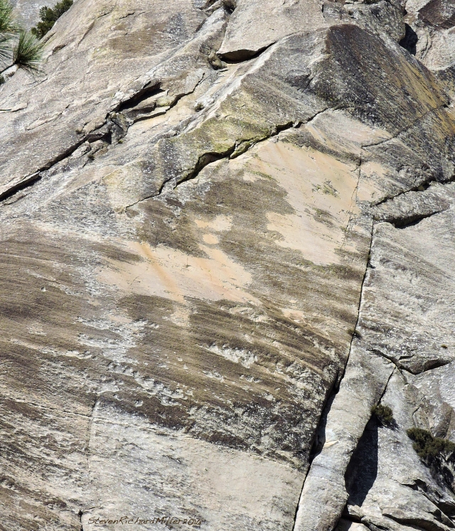 Glacial polish on a granite wall