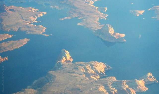 We pass over Lake Powell at Mile 30, at the entrance to West Canyon