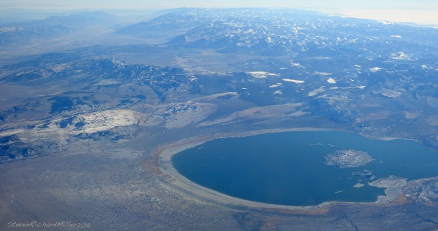 Looking south over Mono Lake