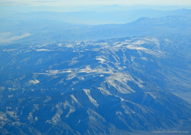 Looking south and a little east, over the White Mountains, with Death Valley in the distance
