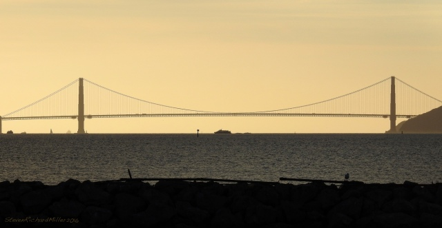 Directly to the west of the Marina is the Golden gate Bridge