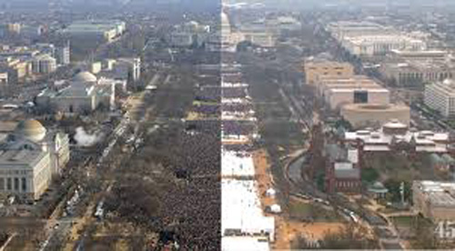Obama, left. Trump, right.
