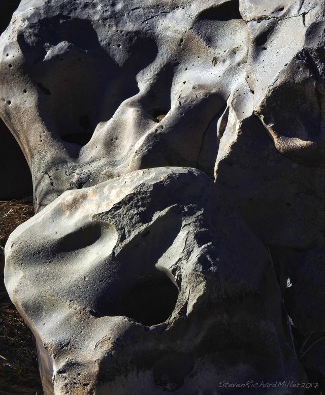 Sculpted boulders, Taos Creek